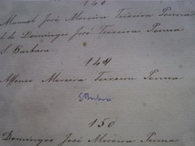 Livro de Matrículas (1856-1910), n. 149 - Affonso Moreira Teixeira Penna