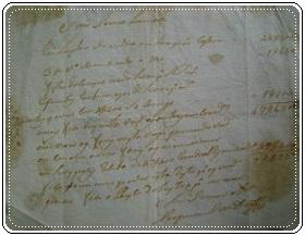 Recibo de mercadoria (1776)