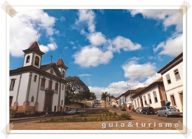 Centro histórico de Santa Bárbara, local mais visitado.